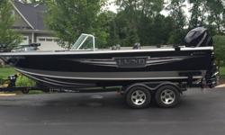 2014 LUND TYEE WITH 80 HOURS ON 225 VERADO. 9.9 KICKER, 2 CANON DOWNRIGGERS( 1 HOOKED UP TO ELECTRONIC DEPTH AND TEMP), SNAP OUT CARPET, TERROVA TROLLING MOTOR, 2 BANK CHARGERS, BIMINI TO WITH EISINGLASS, HUMMINGBIRD FISHFINDER, 4 AIR RIDE SEATS,WASH DOWN
