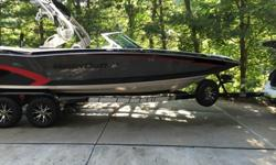 """Never kept in water. Stored in climate controlled facility. We are the original owners, ordered the boat 2013. 2014 Mastercraft X46 includes: 6.0 ILMOR engine, Pro Package, Gen 2 Surf System, 7"""" Touch screen dash Display, ZFT4 Tower with 4 MC Billet 8"""""""