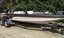 2014 Nitro Z9 21 FT 250 Mercury Pro XS Boat performs and fishes extremely well gelcoat hull and interior is in pristine condition only 18 documented hours still under factory warranty jack plate Mercury Marine prop 36 volt MinnKota 101 fortrex is a beast