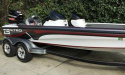 Performs and fishes extremely well gelcoat hull and interior is in pristine condition only 18 documented hours still under factory warranty jack plate Mercury Marine prop 36 volt MinnKota 101 fortrex is a beast recessed pedal Lowrance HDS 7 hotfoot boat
