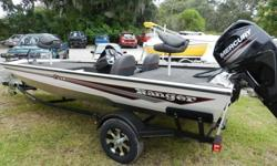 2014 Ranger RT-178 Aluminum Bass Boat with four stroke Mercury 60 HP and trailer. This boat is nicely equipped with a Lowrance X-4 fish finder back mounted at the helm, on board charger, Minn Kota Edge 45 lbs trolling motor, aluminum wheel upgrade, and