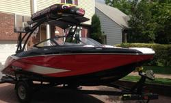 The Boat is in great condition I bought it new last year May 2014. I have 25hours on it. It was just serviced 4/29/15 at Marine Max in Lindenhurst NY the boat is ready to go. The reason im selling it is to get the Scarab 255 HO impulse. The only flaw is