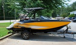 Up for sale is one the most fun boats ever built. This 2014 Scarab 195 jet boat is in awesome condition inside and out!! It is powered by an Austrian made Rotax 1494cc, closed cooled, multiport direct fuel injected, SUPERCHARGED engine that puts out 215