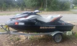 Jet Ski has minor scratches gained through normal use. The main features of the Jet Ski includes 3 seats, GPS equipped, reverse, sport/eco mode. It has rarely been used since purchase only has 55 hours on it, regular maintence performed at 25 hours. It
