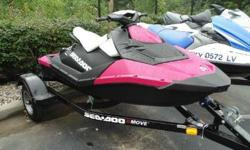 Say hello to the new Sea-Doo Spark, our latest breakthrough watercraft. It makes your family's dream of great days on the water possible right now. The Sea-Doo Spark is playful and easy-to-ride. It boasts the most fuel-efficient engine available and is
