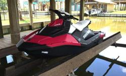 2014 Sea-Doo Spark 3-up w/ IBR. Convenience package. Cover, boarding step, safety kit, and fire extinguisher included. Purchased 3 months ago. Only 9 hours on it. The bubble gum color is interchangeable for other colors.In new condition! 2 yr warranty.