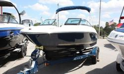 2014 Sea Ray Searay 210SLX 21 foot bowrider. It is in awesome condition inside and out and loaded with tons of great options. The boat is powered by the 225 hp Mercruiser 4.3L V6 MPI motor!! It comes with snap on color matched bow and cockpit covers, snap