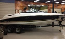 2014 Sea Ray 21 SLX / 5.0L MPI MerCruiser / Bravo 3Prepare to draw stares. With the 210 SLX, every aesthetic and performance consideration has been made: Upscale upholstery with double top-stitching. A profile that broadcasts grace and speed. Mercury