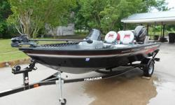 LIKE NEW!!! Used Twice!!Great fishing package. Aluminum hull and hardly used.Powered by Mercury ELPT 40 horse power engine.Features a 23 gallon live well with removable bait well.Bow rod storage compartments and port storage are lockable.Minn Kota Power