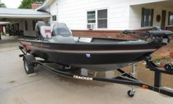 Great fishing package. Aluminum hull and hardly used.Powered by Mercury ELPT 40 horse power engine.Features a 23 gallon live well with removable bait well.Bow rod storage compartments and port storage are lockable.Minn Kota Power Drive V2 trolling motor