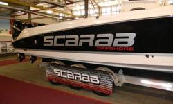 Brand new 2014 Scarab 35 Sport with triple 300 Mercury Verados. this boat has a cabin with heat and A/C. Also a full head with shower and dock side pump out. A beautiful boat to spend a day at the sand bar or take a group fishing offshore. For more