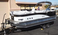 """2015 Avalon Paradise Cruise 23' - Triple Tube PontoonThe industry-leading design of the Paradise in the traditionally most popular interior layout. The Paradise Cruise features a familiar """"L"""" shape interior layout with premium features like plush seating,"""