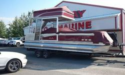 Web price has been discounted 12%, Mention our web site!Yes, this is a double decker Tri-toon!! Worth every penny! 30MPH ! Can you imagine the fun your family and friends will have on this baby?Avalon is a top of the line pontoon. Other dealers do not