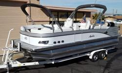 2015 Avalon Windjammer Quad Lounge 25' - Triple Tube PontoonPlease call for Pricing (928) 855-8588The Windjammer Quad Lounge is the perfect boat for both sunbathers and large families. It features the most spacious interior of all the Windjammer models.