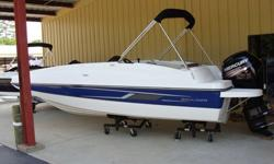 "2015 Bayliner 190 DB Blue SpecificationsLOA 18'7"" Beam 8'1"" Deadrise 17° Approximate weight w/standard engine 3040 Draft max 16"" Maximum person capacity 11 Fuel capacity 35 gals Base Price 22,499Freight 2,389 Options: Engine* 115 HP EFI 4 Stroke Standard"