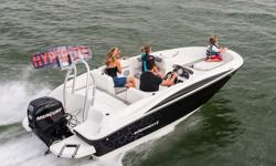 """2015 Bayliner ElementSpecificationsLOA 16'2"""" Beam 7'5"""" Approximate weight w/standard engine 1,570 lbs Passenger capacity 6 Fuel capacity 12 gal Base Price 12,999Freight: 1,818Engine:* 60 HP Mercury 4-Stroke Outboard * 60 HP Mercury 4-Stroke EFI Command"""