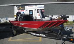 With Dual casting platforms and Crestliner's famous stable Mod-V aluminum hull, you'll be guaranteed to have a versatile, durable, and dependable fishing machine.This Storm has many great features that include; A large center storage compartment and two