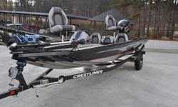"""Key Features May Include:Console/Instrumentation. Console, starboard, w/switch panel, carbon fiber style instrument panel w/black sterling gauges, drink holder, throw tray, 12V power outlet & 4"""" in-dash fish finder (space for 7"""" in-dash). Steering wheel,"""
