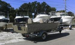2015 LUND ALASKAN 1800 SS WITH SUZUKI DF70 FOUR STROKE AND 2015 SHORELAND'R ROLLER TRAILER WITH SPARE TIRE. LUND EXCLUSIVE WETLANDS CAMO COLOR. OPTIONS INCLUDE TROLLING MOTOR PLUG IN BOW, FULL COCKPIT COVER AND SWIM LADDER. HUNTING SEASON IS APPROACHING;