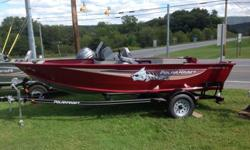 2015 Polarkraft at a drastically reduced price. The boat must sell. We are overstocked with boats. It is brand new. Never been stored outside. Never been in the water. Comes with a 2015 TrailMaster Custom Matched Trailer. All Welded Trailer. Swing Away