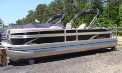 """2015 Premier Sunsation 250 RF Tritoon EbonyRay Clepper Boating Center 803-781-3885 www.rayclepper.comSpecificationsOverall Length 25' 5"""" Deck Length 25'Width 8' 6"""" Weight (3 tubes)* 2750 lbs.Max. Weight Cap. (3 tubes) 3250 lbs.Person Cap. (3) 16Max. HP (3"""