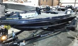 2015 Ranger Z520C Bass boat, Evinrude E250LHO, Ranger 415F Trailer, Trim Lever Control, Lowrance HDS-7T Bracket Mount Console, Lowrance HDS-5 Bracket Mount Bow, Battery Charger, Touring Package, Extra Bike Seat.The Z520c. Bow to stern, it's among the most