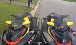 2015 Seadoo RTX260 both are in excellent condition with no straches or scrapes. Never been in salt water Both jetskis have original Seadoo jetski covers, both jetskis also has less than 20 hours , and will come will 4 Seadoo life vest!! These jetskis have