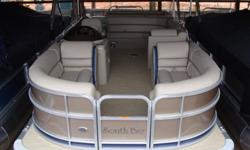 """2015 South Bay 422 CR Tritoon PP Bronze SpecificationsOverall Length 22' Width 8' 6"""" Max. HP 150Options:*Bronze Panels w/ Navy Stripe* Navy Bimini Top* Mocha Vinyl w/ Navy Accent* Tritoon Performance Package - Center Tube, Seastar Hydraulic Steering, Full"""