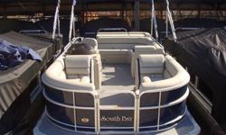 """2015 South Bay 422 CR Tritoon PP Navy Ray Clepper Boating Center 803-781-3885 www.rayclepper.com SpecificationsOverall Length 22' Width 8' 6"""" Max. HP 150Options:* Navy Panels* Navy Bimini Top* Flagstone Vinyl w/ Navy Accent* Tritoon Performance Package -"""
