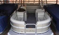 """2015 South Bay 422CR Platinum w/ Black stripe SpecificationsOverall Length 22' Width 8' 6"""" Weight (2 Tubes) 2060 lbs. Max. Weight Cap. (2 tubes) 2080 lbs.Person Cap. (2) 10Tube Diameter 25""""Max. HP (2 tubes) 115Options:* Platinum Panels w/ Black Stripe*"""