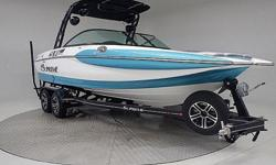 "The Supreme V226 is one of the top rated surf boats!! This boat produces a better surf wake than most of the boats out there that are $30,000 more $$! The V226 is also a ""Pickle Fork"", meaning the bow area has way more room than traditional pointed nose"