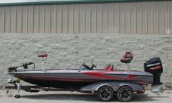 """This amazing boat is a fisherman's dream rig.Fishing Features: """"Stay-Full"""" Livewell Overflow System; 2-800 gph Livewell Aerator Pumps; 2-800 gph Livewell Recirculation Pumps; 2- 800 gph Livewell Pumpouts; 1-Bike Seat and Power Pro-Pole; Centric II"""