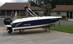 2016 Bayliner Element XL w/ 115 Mercury 4-Stroke & trailer. Boat is in great condition and has been stored at Lighthouse Marina. Options include: Garmin echo map DV43, stereo, cooler, wakeboard arch, bimini top, desert tan interior, dual gas tanks and