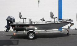 2016 G3 EAGLE 166 POWERED BY A YAMAHA F40 FOUR-STROKE OUTBOARD WITH TRIM AND TILT. PACKAGE INCLUDES A BEAR ALUMINUM CUSTOM TRAILER WITH 13 ? TIRES, MINN KOTA EDGE 45# FOOT CONTROL TROLLING MOTOR , GARMIN FISHFINDER, TACHOMETER, SPEEDOMETER, FUEL GAUGE,