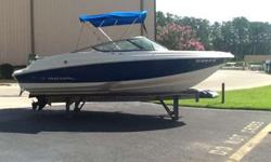 2016 Regal 2000 ES w/ 4.3L Mercruiser. Boat is in great shape and has only 57 hours. Options include bimini top, depth finder, Fusion radio w/ 6 speakers, bow & cockpit covers. No trailer as boat has been stored at Lighthouse Marina. Please call Craig or