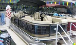 """WEST LAKES BOAT MART, (260)343-XXXX, WESTLAKESMARINE.COM MSRP $72,300, CALL FOR PRICING, OPTIONS: ULTIMATE DECK PACKAGE, 25"""" TRIPLE TUBE PACKAGE, POWER BIMINI, IN FLOOR STORAGE, LED UNDER DECK LIGHTS, POLK STEREO, BLACK ANODIZED RAILS, GRAPHICS PACKAGE,"""