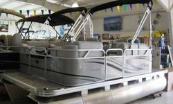 """14' compact 7.5"""" wide pontoon, great for fishing and cruising, call for closeout pricing!! (260)343-XXXX"""