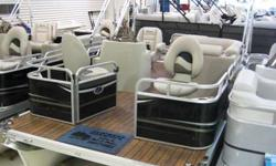 """16' compact 7.5"""" wide pontoon, great for fishing and cruising, call for closeout pricing!! (260)343-XXXX"""