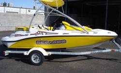 Take a look at this beautiful 2004 Sportster 4-Tec by SeaDoo. This boat is in like new condition and ready for the lake. It has seating for 4 and room to store all you gear, with an in floor ski locker, large storage under the sunpad, and storage under