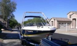 I HAVE A 2006 20 ft OPEN BOW REGAL PLEASURE/SKI BOAT EQUIPPED WITH A 5.0 LITER MOTOR & VOLVO OUTDRIVE WITH VERY LOW HOURS EXTRA FEATURES INCLUDE SKI TOWER four BLADE PROPELLER & FACTORY PROPELLER ALSO INCLUDED WOULD BE A OBRIEN SOLOMON SKI two KNEEBOARDS