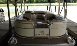 2003 Bennington tri-toon pontoon boat with very low hours. Evinrude 150 hp Ficht fuel injected engine professionally maintained by certified mechanic. Double bimini tops and full cover. Changing room with new porti potti. Brand new battery purchased in