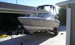 20ft 2008 Monterey fish and ski boat bought new in 2009,This boat is almost new and in superb condition ,230 horsepower Volvo Penta Engine with outdrive and only 55 hours on it. Fuel injection, depth sounder, freshwater cooling system, 2 props, swim