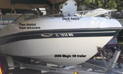 One owner hassle free pampered boat with 165hr and always stored undercover. This is an excellent all seasons boat great for tubing/water skiing and equipped for comfort & sleepover adventures for the entire family. Offers plenty of storage space and