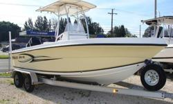 150HP Mercury Optimax with approx 130 hours, T-top with storage and electronics box, 2 livewells, full cover, 2 batteries, porti potti in console, rocket launcher plus 4 more on side, Garmin 498 GPS Map Color chart plotter sounder/fishfinder, raw water