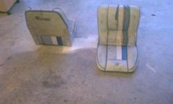 I have two lowe fishing seats they are dirty and 1 is ripped and the other is missing mount on bottom. I dont need them, im asking $20 for the pair. Call/txt 502 472 5829Listing originally posted at http