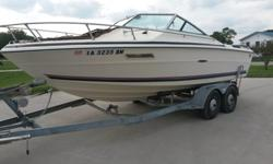 20' Closed Bow Ski Boat/Wake Board Boat (Sea Ray SRV200 Sunrunner)** Trailer included** Bimini top included** Boat cover included** Anchor, bumpers, throwable, skis, & ski rope included ** Lake readyThis boat has been in the family for the last 15 years.