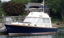 This 40 foot Grand Banks Eastbay is new to the market and is located in Darien, CT. Grand Banks Eastbay has always been considered the benchmark for all others in this class. She carries a long reputation of class and workmanship unmatched in other