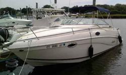 Cabin Cruiser w/ 360 hours, Sleeps 4, Well maintainednew canvas, Standing head room in cabin, Heat/A-C, Microwave oven, fridge, electric stove, Am fm radio w/ six disc compact disc player, enclosed head with shower as well as a swim platform, 5.0L