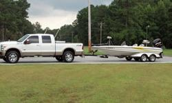 TRITON BASS BOAT 2005 TR-20. 225 HP, HOT FOOT, JACK PLATE, FISH FINDER, MANY COMPARTMENTS, AM/FM RADIO/CD PLAYER, VERY VERY LOW HOURS, TROLLING MOTOR WITH FOOT PETAL AND HAS BEEN GARAGED KEPT. 21,600.00 OR BEST OFFER.