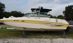 6.2 Mercruiser Horizon MPI with Bravo III drive, Marine head with holding tank, ski tower, Lenco trim tabs, Lowrance GPS Map 3300C,Anchor windlass, full canvas, shower-swim platform, No trailer